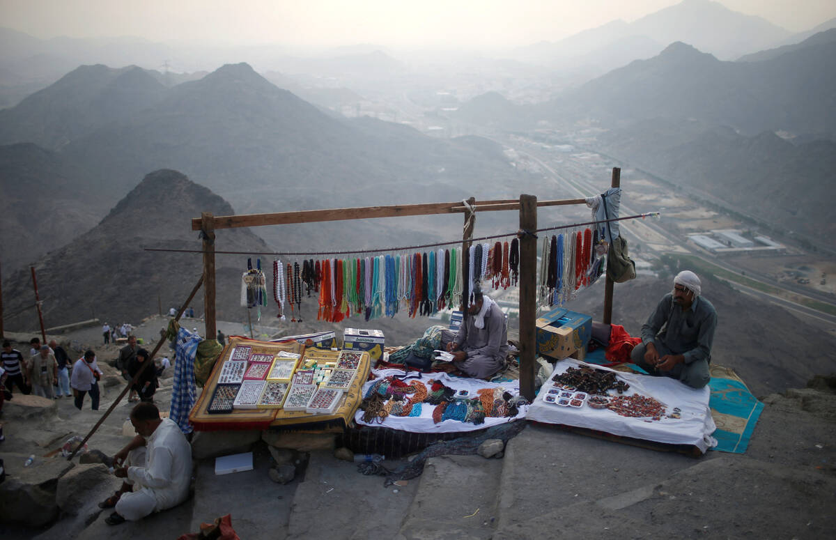 Vendors sell souvenirs for pilgrims at Mount Al Noor in the holy city of Mecca Saudi Arabia August 28 2017. Picture taken August 28 2017. REUTERSSuhaib Salem
