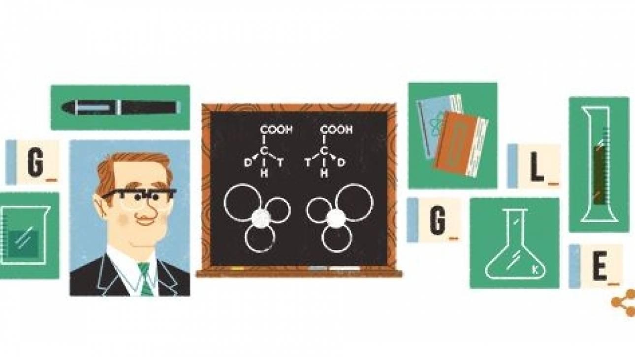 Τζον Κόρνφορθ: Το Doodle της Google για τον Αυστραλό χημικό