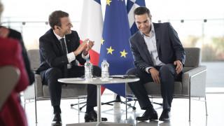 Κοινό μήνυμα Μακρόν - Τσίπρα: Επενδύστε στην Ελλάδα