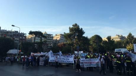 Συγκέντρωση διαμαρτυρίας από τους ένστολους στη Θεσσαλονίκη ενόψει ΔΕΘ (pics)