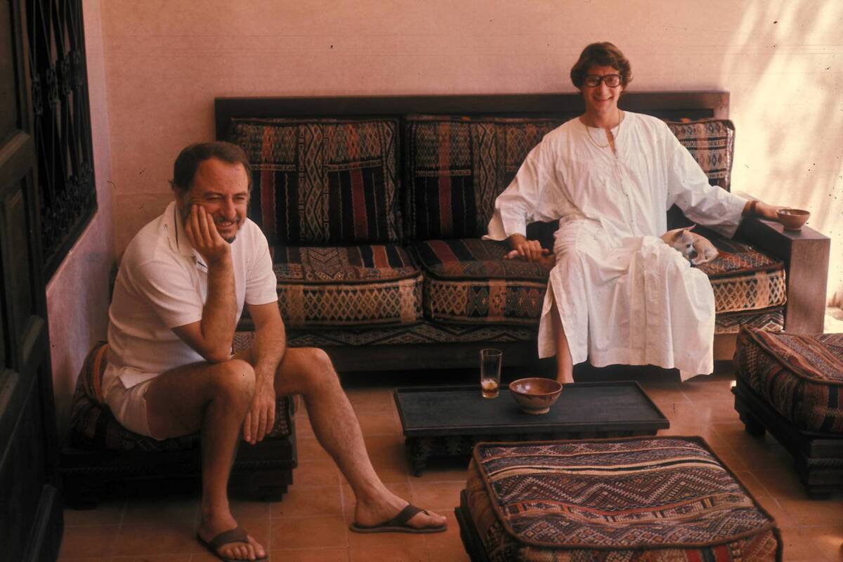 Pierre Berge and Yves Saint Laurent in Marrakech 1977 c Guy Marineau