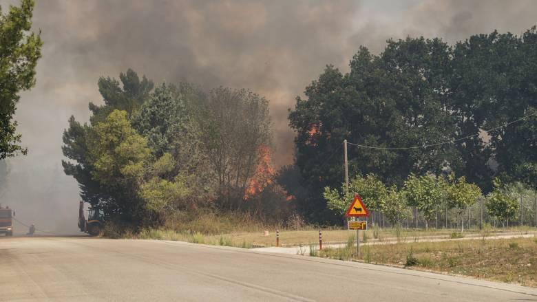 Μεγάλη πυρκαγιά στην Κέρκυρα – Πλησιάζει σε κατοικημένη περιοχή
