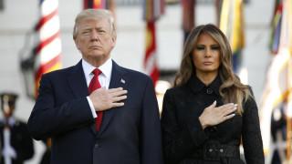 11η Σεπτεμβρίου: Ντόναλντ και Μελάνια Τραμπ τήρησαν ενός λεπτού σιγή για τα θύματα (pics)