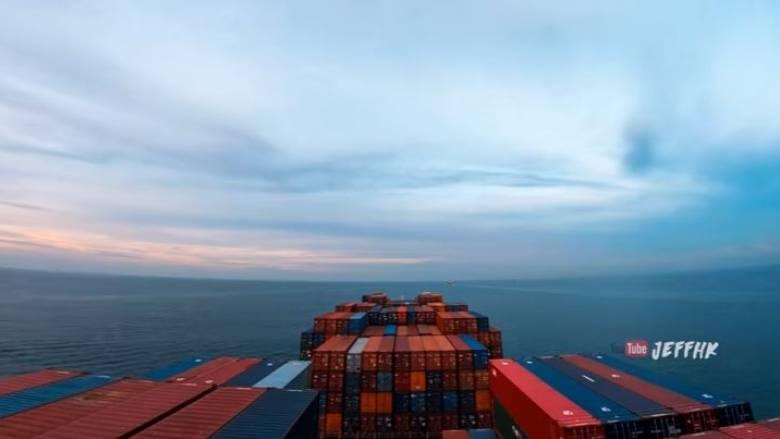 Ταξίδι τριάντα ημερών με φορτηγό πλοίο: Από την Ερυθρά Θάλασσα στο Χονγκ Κονγκ (vid)