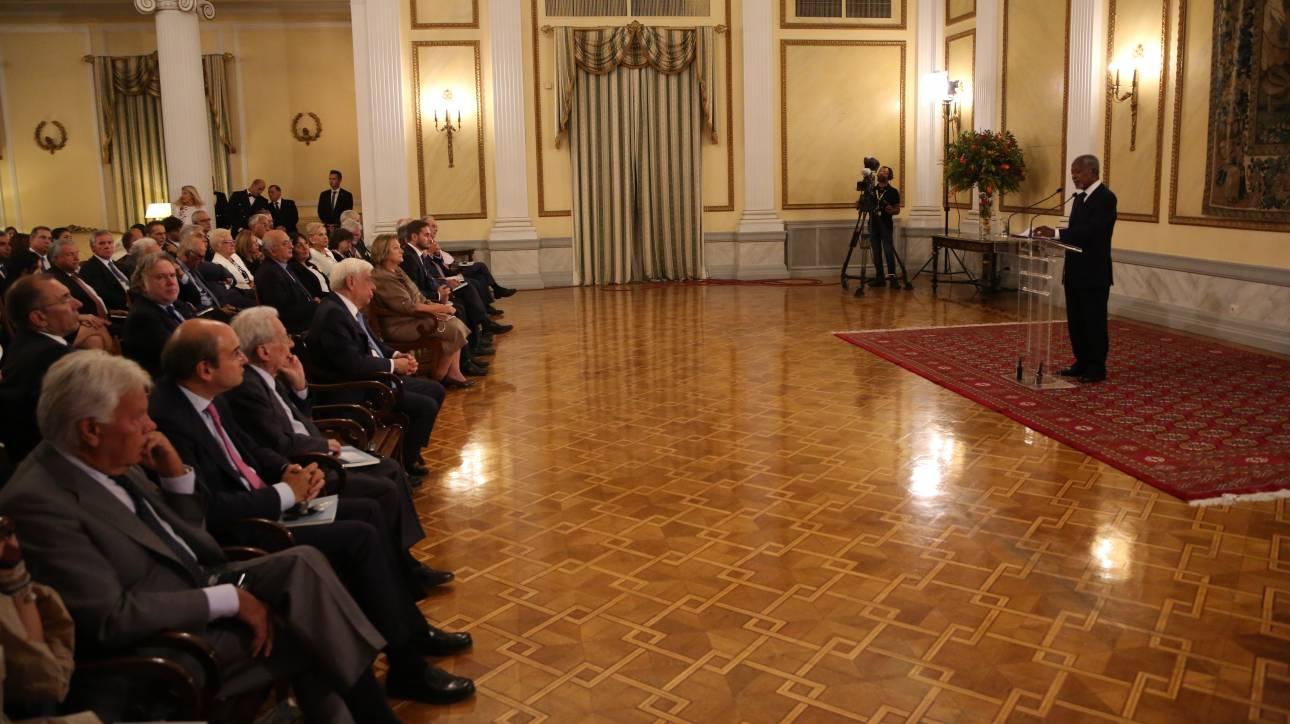 Στο Προεδρικό Μέγαρο ο Κόφι Ανάν για το New York Times Athens Democracy Forum