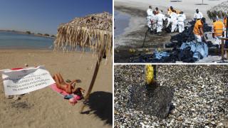 Σαρωνικός: Συνεργεία απορρύπανσης και λουόμενοι έγιναν... ένα στις παραλίες της Αττικής