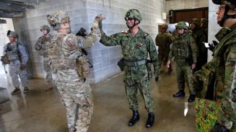 Κοινή στρατιωτική άσκηση ΗΠΑ-Ιαπωνίας δυτικά του Τόκιο