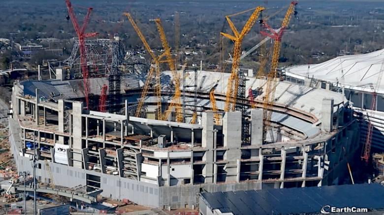 Το θαύμα της μηχανικής: Έτσι κατασκευάστηκε το Mercedes-Benz Stadium στην Ατλάντα (vid)