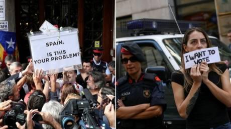 Δημοψήφισμα Καταλονία: Συλλήψεις, κατασχέσεις ψηφοδελτίων και έντονες αντιδράσεις (pics)
