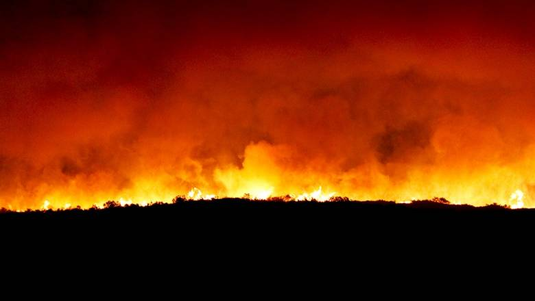 Φωτιά στην Καβάλα: Ολονύχτια μάχη με τις φλόγες - Δύσκολη νύχτα για τους κατοίκους (pics)