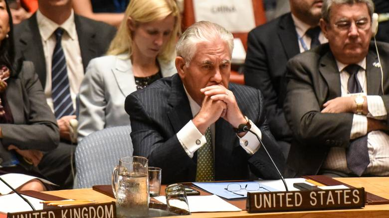 Τίλερσον: Συνεχίζονται οι διπλωματικές προσπάθειές μας για λύση στο θέμα Βόρειας Κορέας