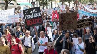 Στους δρόμους οι Γάλλοι κατά της εργασιακής μεταρρύθμισης του Μακρόν (pics)
