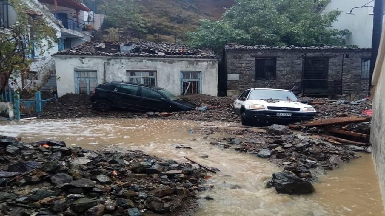 Εικόνες βιβλικής καταστροφής από την κακοκαιρία στην Σαμοθράκη (pics)
