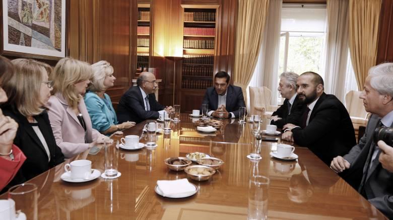 Συνάντηση του Τσίπρα με τη νέα ηγεσία του Αρείου Πάγου στο Μαξίμου