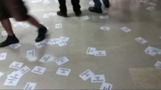 Βίντεο από την εισβολή του Ρουβίκωνα στο υπουργείο Δικαιοσύνης