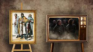 Νυχτερινή Φρουρά όπως Ναΐτες Ιππότες  Μία αμιγώς στρατιωτική αδελφότητα με κύρια αρμοδιότητα την υπεράσπιση του Τείχους στα βόρεια σύνορα των Επτά Βασιλείων η Νυχτερινή Φρουρά ιδρύθηκε την Εποχή των Ηρώων, μια περίοδο κατά την οποία απωθήθηκαν οι Άλλοι