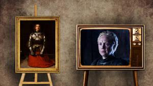 """Μπριέν του Ταρθ όπως Ιωάννα της Λωραίνης  H Μπριέν είναι μία σπαθοφόρος νεαρή που φοράει πανοπλία, γνωστή και ως """"Η παρθένος του Ταρθ"""".  Η Ιωάννα της Λωραίνης αποκαλούσε τον εαυτό της και ως """"Η Παρθένος"""". Σύγχρονες πηγές επιβεβαιώνουν ότι η ίδια προτι"""