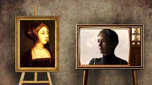 Σέρσεϊ Λάννιστερ όπως Άννα Μπολέυν.  Η αιμομιξία στον οίκο των Λάννιστερ, η ερωτική σχέση της Σέρσεϊ με τον δίδυμο αδελφό της, Τζέιμι Λάννιστερ, αποτελεί ακρογωνιαίο λίθο της πλοκής.  Η Άννα Μπολέυν (Anne Boleyn, προφ. Ανν Μπολίν, 1501 - 19 Μαΐου 1536