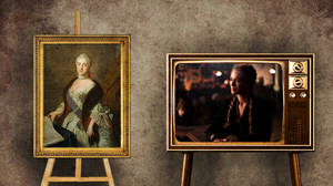 Σέρσεϊ Λάννιστερ όπως Μεγάλη Αικατερίνη.  Η Σέρσεϊ έχει καταφέρει πολλά. Ήδη από τη πρώτη σαιζόν η ίδια δολοφόνησε τον σύζυγo της και διεκδίκησε τον βασιλικό θρόνο, ύστερα από σημαντικές πολιτικές συνομωσίες.  Είχε προηγηθεί στην ιστορία η Μεγάλη Αικα
