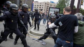 Σκηνές βίας στους δρόμους της Καταλονίας