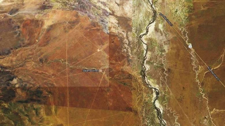 Μυστήριο με ίσιες γραμμές πάνω στα βουνά της Βολιβίας (pic)