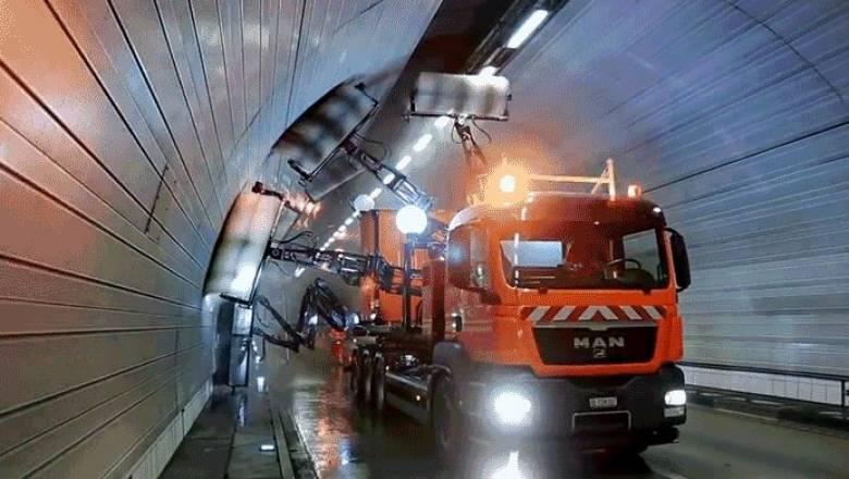 Εσείς γνωρίζατε πως καθαρίζουν ένα τούνελ; (vid)