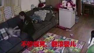 Κάμερα ασφαλείας καταγράφει νταντά να κακοποιεί μωρό (vid)