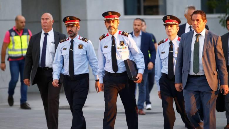 Καταλονία: Ο αρχηγός της αστυνομίας διώκεται για «ανταρσία» από δικαστήριο της Μαδρίτης