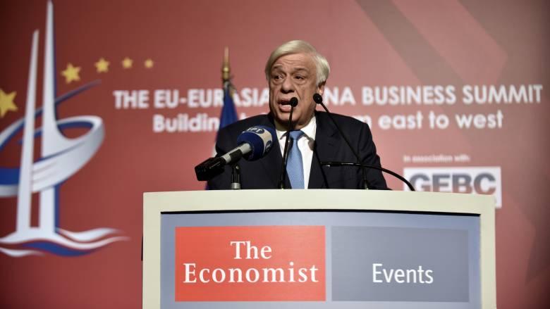 Π Παυλόπουλος: Κομβικός ο ρόλος της Ελλάδας στην Ευρασία