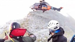 Αεροδιακομιδή πολυτραυματία ορειβάτη από Super Puma στον Όλυμπο (vid)