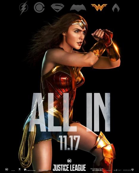 wonder woman justice league poster