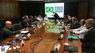 Συνάντηση Καμμένου με τον υπουργό Άμυνας της Βραζιλίας