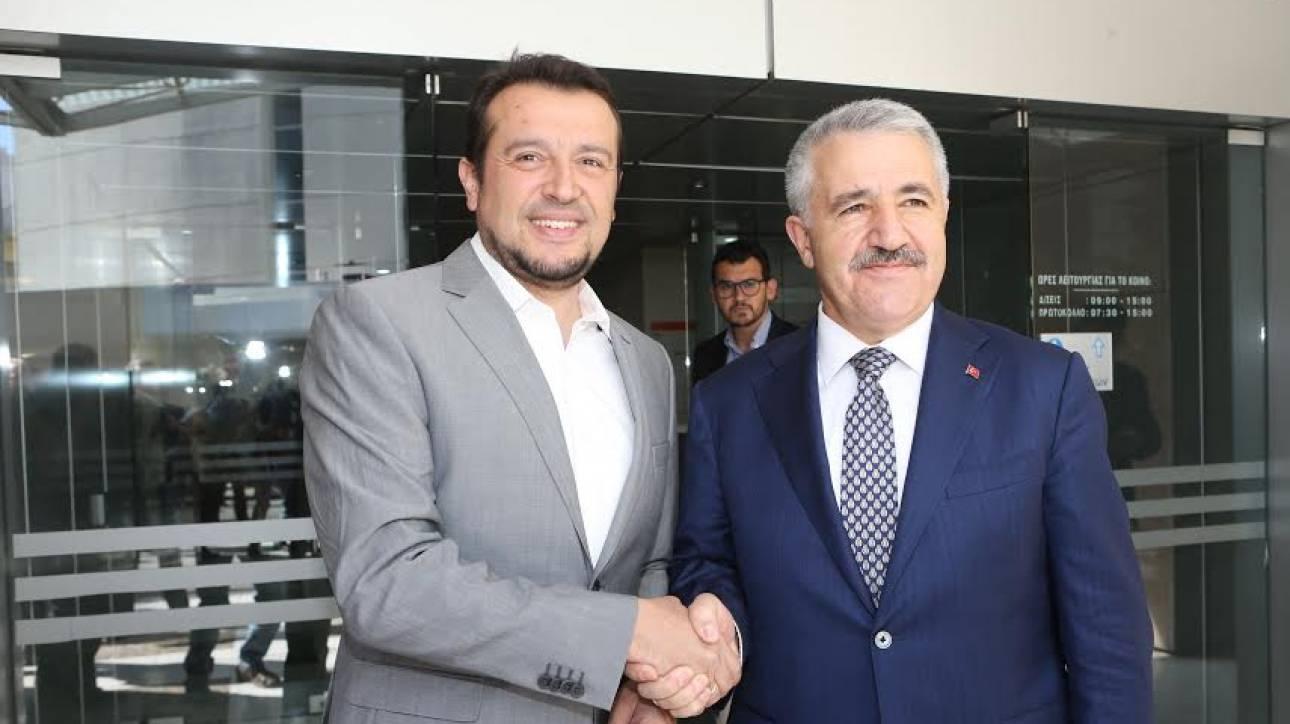 Συνάντηση Παππά με τον Τούρκο υπουργό Μεταφορών - Συζητήθηκαν θέματα ψηφιακής πολιτικής