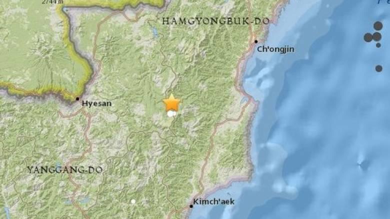 Ασθενής σεισμός στη Βόρεια Κορέα
