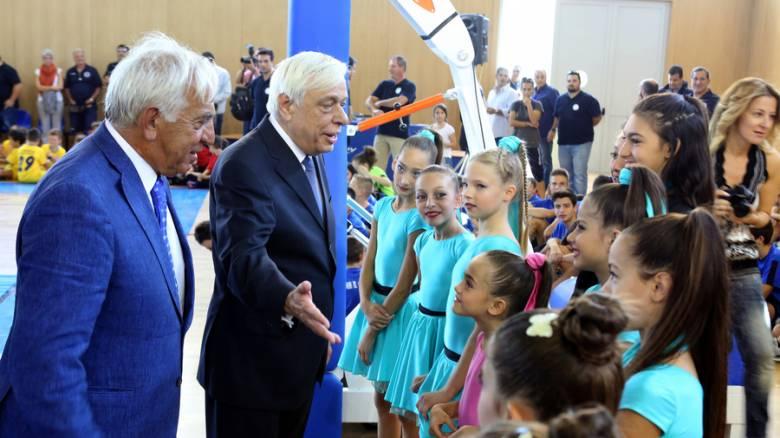 Στα εγκαίνια του κλειστού γυμναστηρίου Παλαιού Φαλήρου ο Π.Παυλόπουλος (pics)