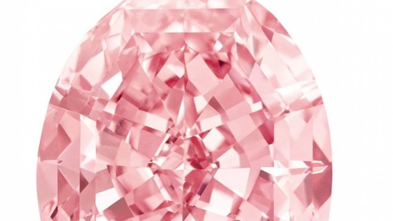 Pink Raj, το μεγαλύτερο ροζ διαμάντι του κόσμου βγαίνει σε δημοπρασία