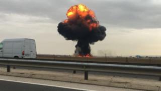 Συνετρίβη στρατιωτικό αεροσκάφος κοντά στη Μαδρίτη (pics+vid)