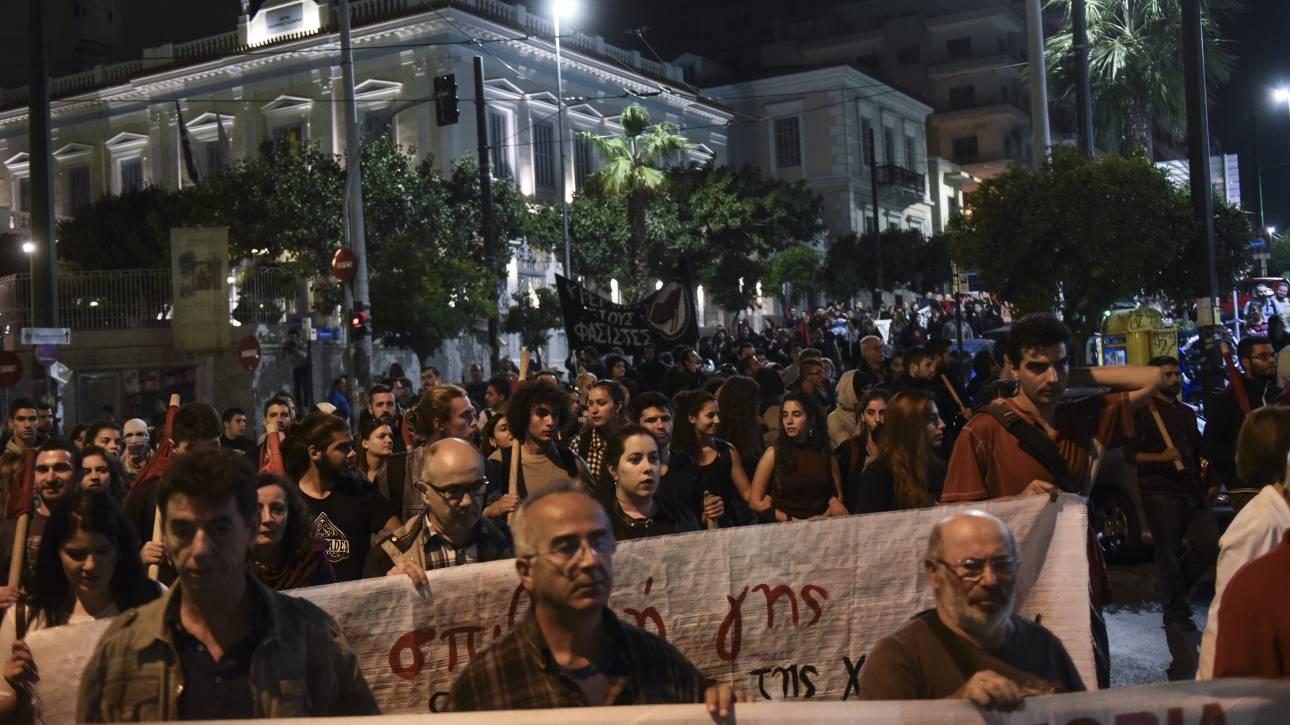Συγκέντρωση διαμαρτυρίας για το άνοιγμα γραφείων της Χρυσής Αυγής στον Πειραιά