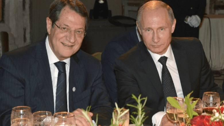 Κυπριακό και μνημόνια συνεργασίας στην ατζέντα της συνάντησης Πούτιν - Αναστασιάδη