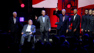Η ισχύς εν τη ενώσει: Πέντε Αμερικανοί πρώην πρόεδροι μαζί για τους πληγέντες των τυφώνων