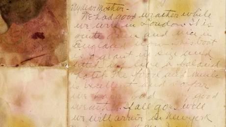 Η «χρυσή» επιστολή επιβάτη του Τιτανικού στη μητέρα του