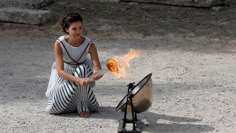PyeongChang 2018:Στο αρχαίο στάδιο της Ολυμπίας η Αφή της Ολυμπιακής Φλόγας