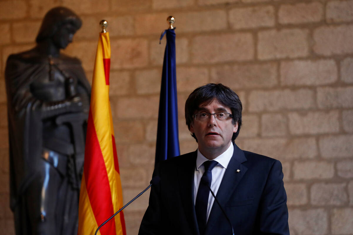 2017 10 26T151304Z 2011040530 RC1860EE65B0 RTRMADP 3 SPAIN POLITICS CATALONIA PUIGDEMONT