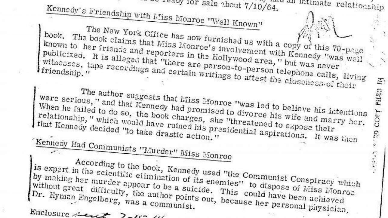Mέριλιν Μονρόε: Τα απόρρητα αρχεία για τη δολοφονία του JFK δείχνουν τον δικό της δολοφόνο;