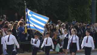 Η μαθητική παρέλαση της Αθήνας για την 28η Οκτωβρίου