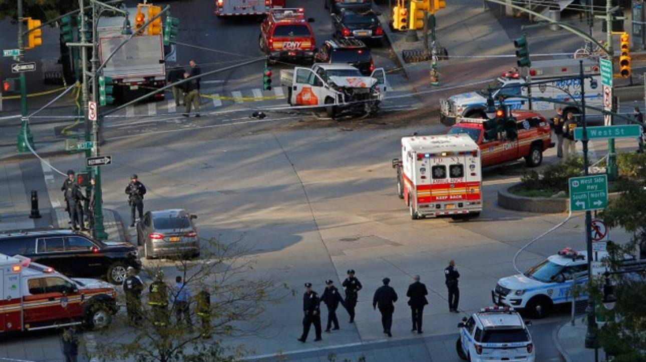 Τρόμος στη Νέα Υόρκη – Φορτηγό έπεσε σε ποδηλάτες και πεζούς