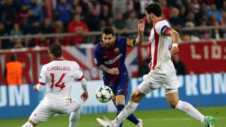 Champions League: Ο Ολυμπιακός κράτησε στο 0-0 την Μπαρτσελόνα