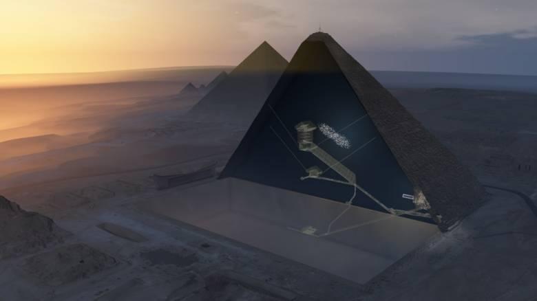 Αίγυπτος: Ανακαλύφθηκε ένα κρυφό κενό στην Πυραμίδα του Χέοπα (pics&vid)
