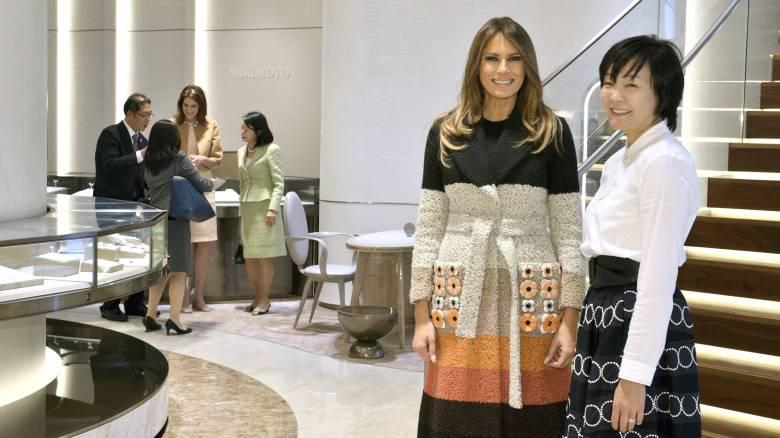 Ιαπωνία: Γκολφ για τον πρόεδρο Τραμπ, μαργαριτάρια για την Πρώτη Κυρία (pics)