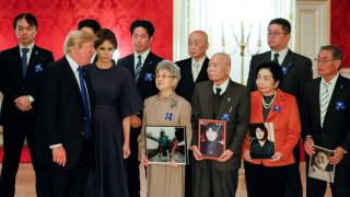 Συνάντηση Τραμπ με οικογένειες Ιαπώνων που έχουν απαχθεί από τη Β.Κορέα (pics)